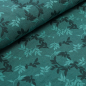 Preview: Relief-Jacquard Shiny Leaves - smaragd
