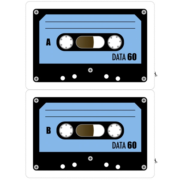 Kassette DATA 60 DIY Tape (blau)