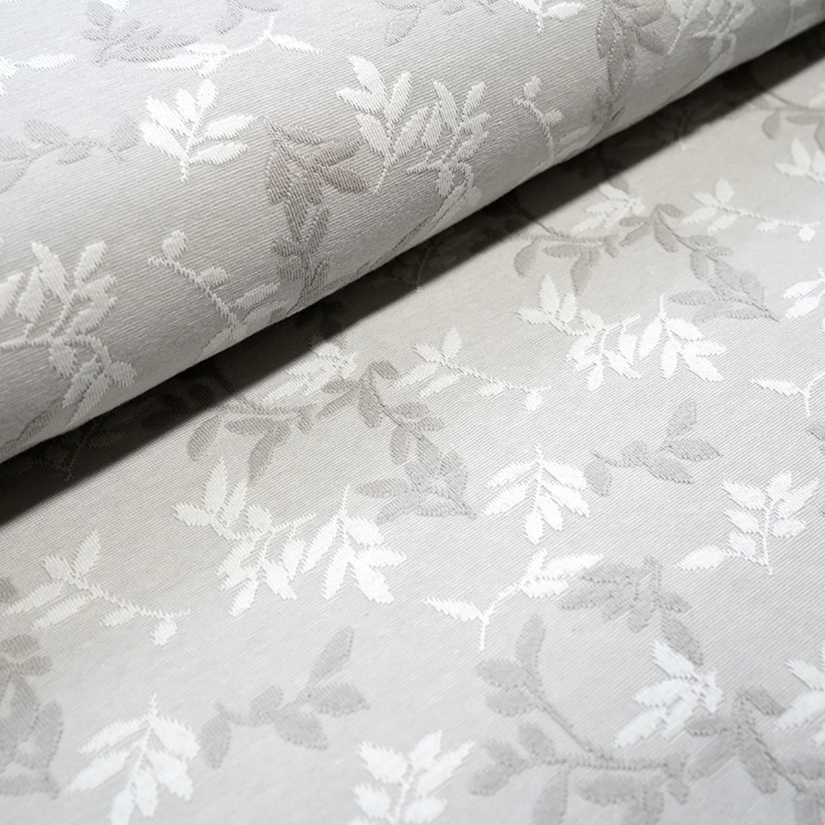 Relief-Jacquard Shiny Leaves - platin