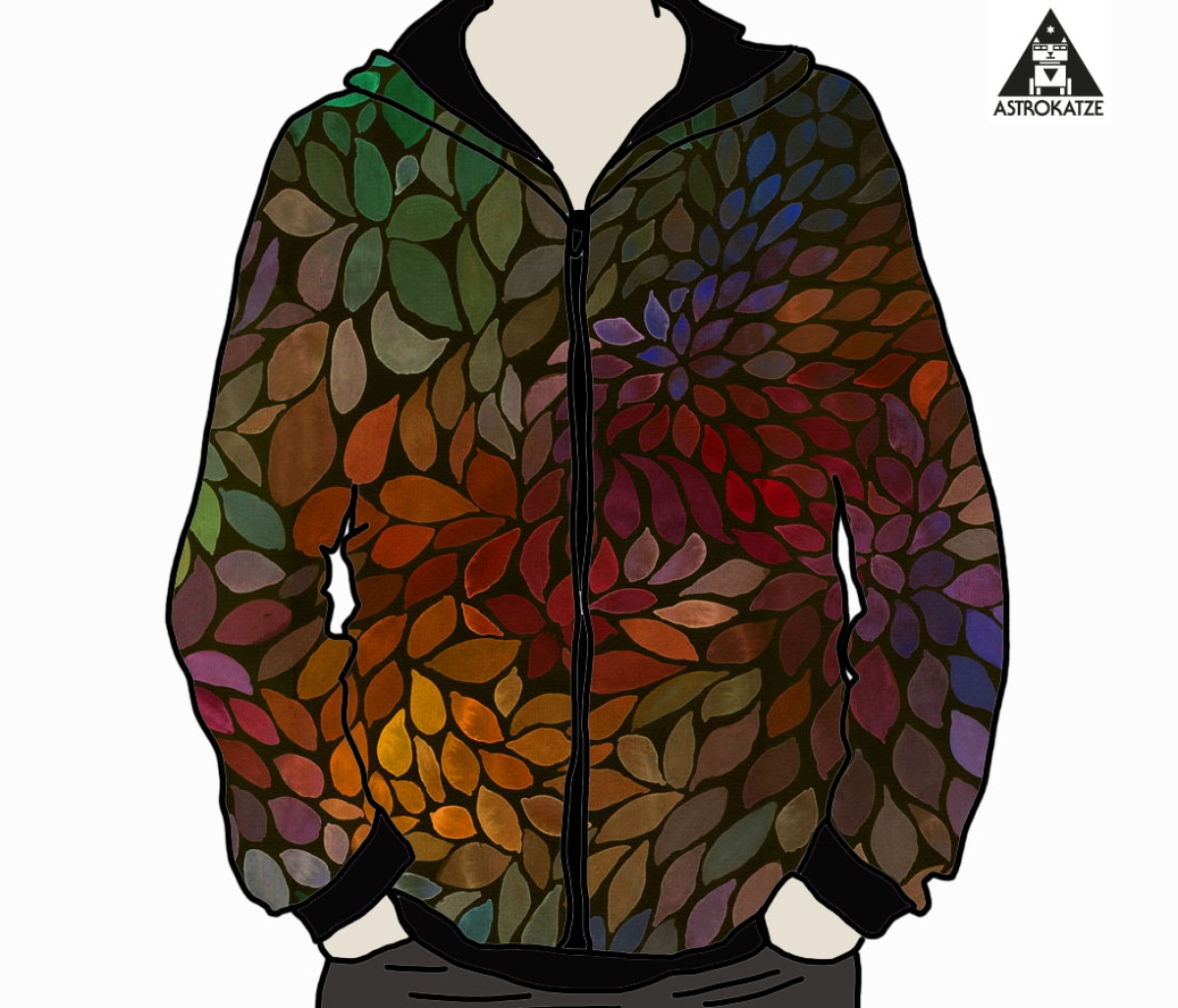 ColorLeaves - warm energy - BIO-JERSEY