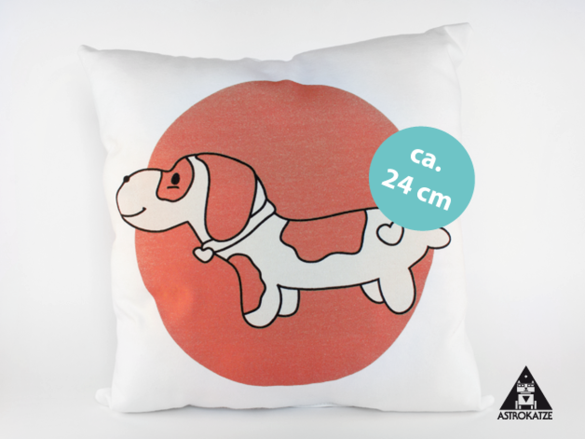 Dachshund, DIY, Applikation, Kissenhülle, Coralle